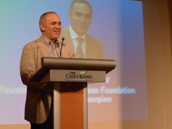 Garry Kasparov with His Keynote Address