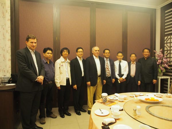 Dinner with the officials of the Board of Thailand Chess Association