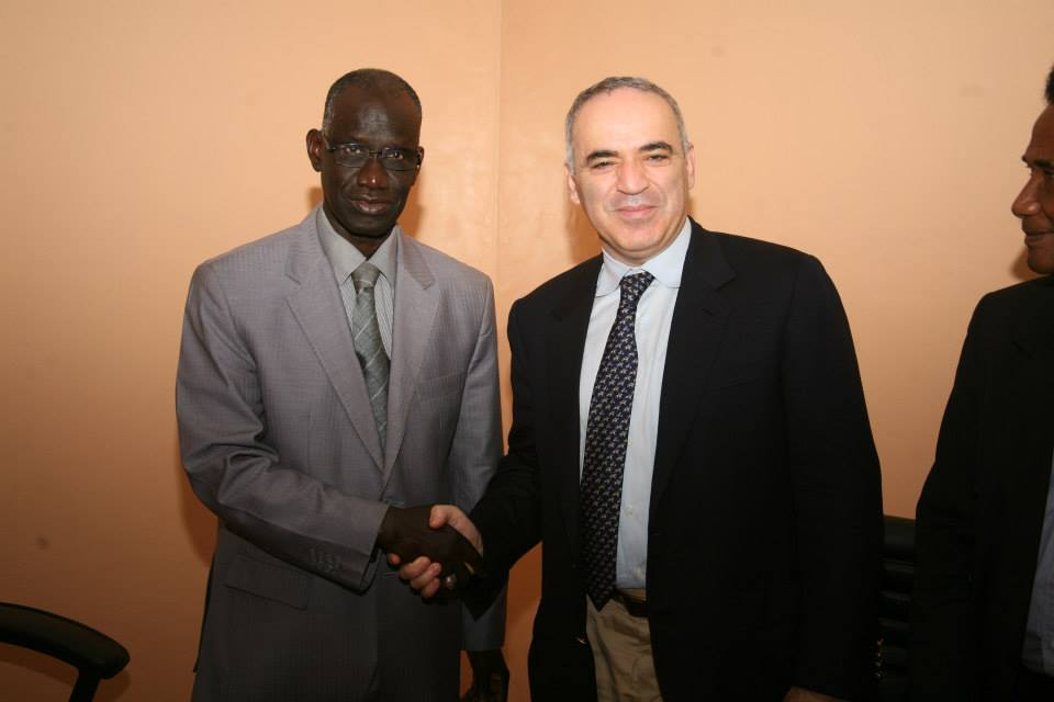 Garry received by the Minister of Sports of Senegal, Mr. Mbagnick Ndiaye
