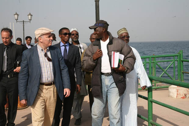 Welcomed by the Deputy of Mr. Augustin Senghor, Mayor of the Gorée island