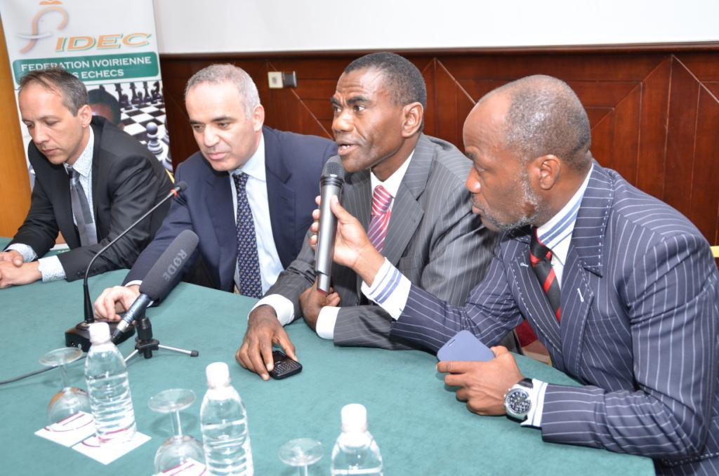 Press conference of Garry Kasparov and Essis Essoh, President of the Ivorian Chess Federation