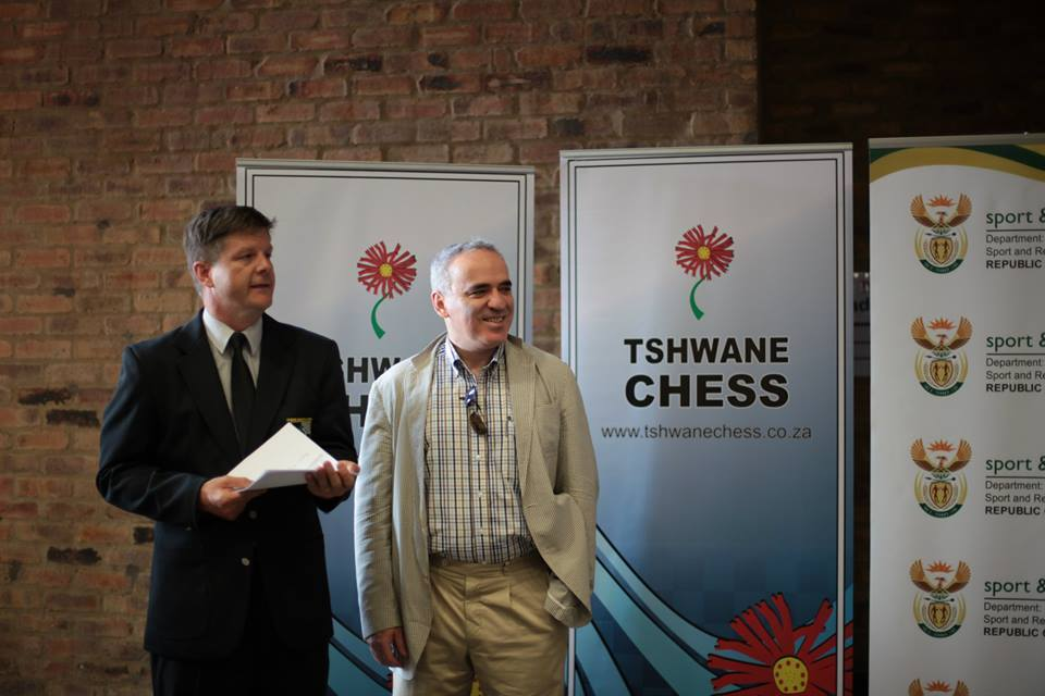 Closing ceremony with CHESSA President Hendrik du Toit — at Southdowns College.