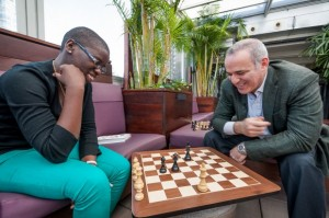 Grandmaster Garry Kasparov was an inspiration to Ugandan chess phenom Phiona Mutesi.