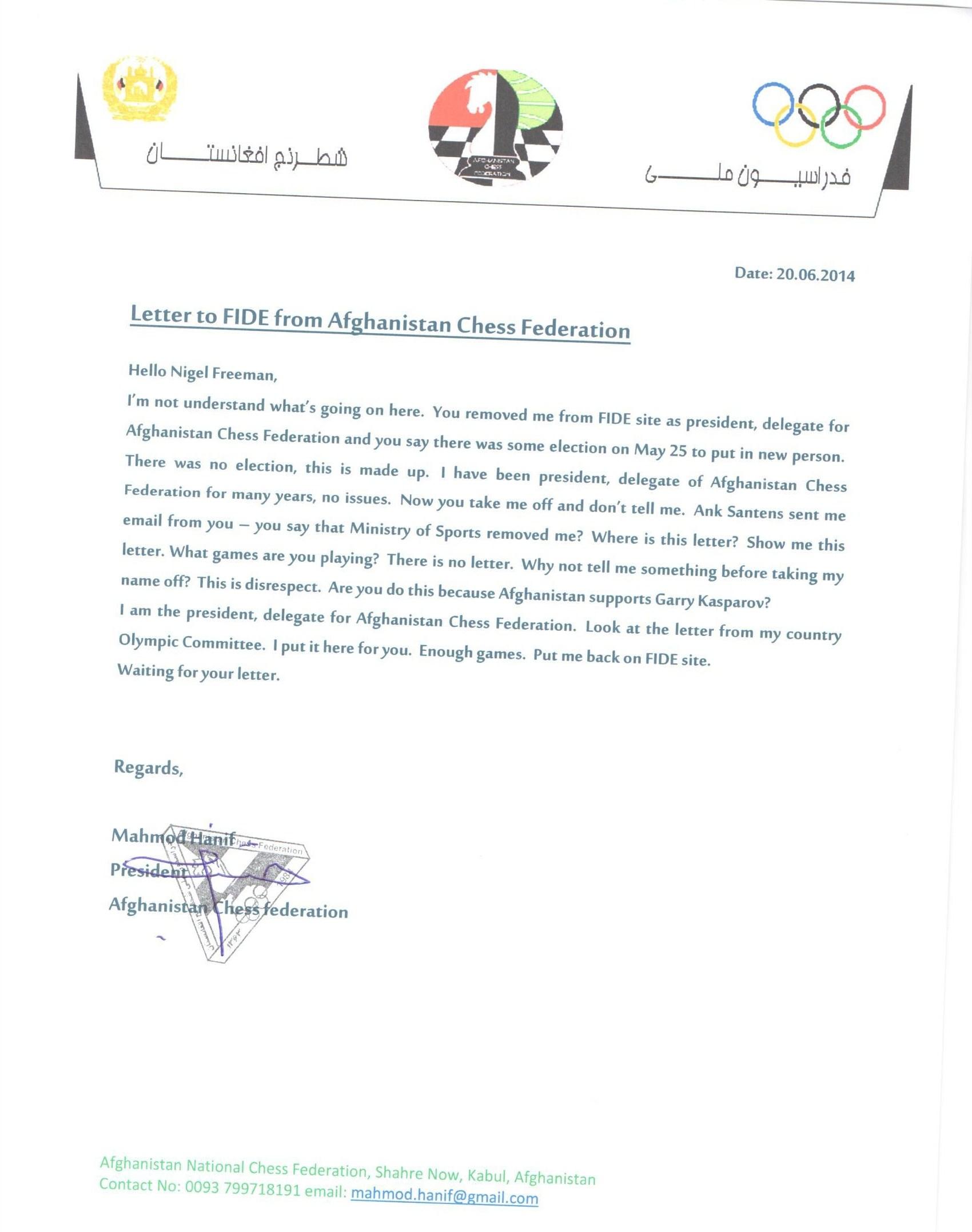 Afghan_Federation_Letter