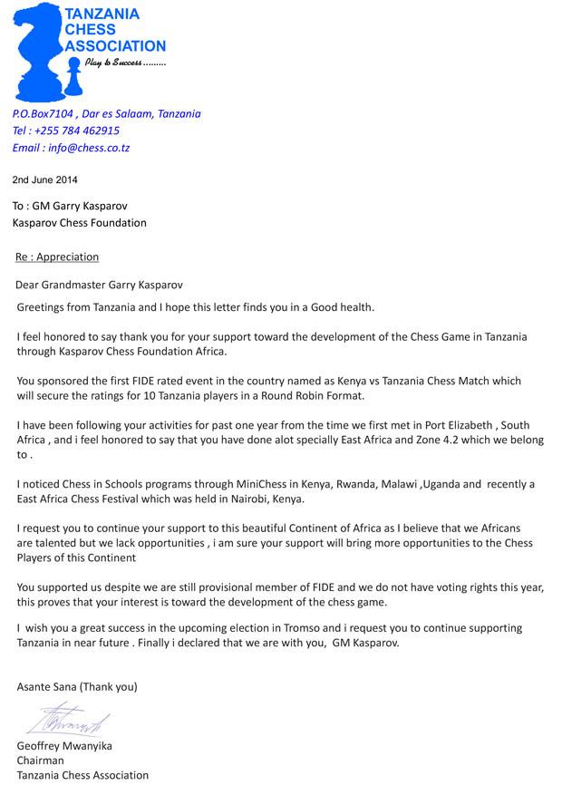 Garry Kasparov letter1