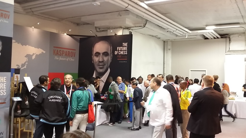 Kasparov booth. Hard at work.